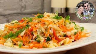 ЗИМНИЙ ОВОЩНОЙ САЛАТ. Простой рецепт, но очень питательный, полезный и вкусный. От Кухня в Кайф.
