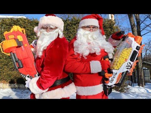 Nerf War: Evil Santa Claus