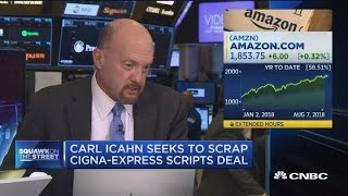 Seemingly an uphill battle for Icahn with Cigna-Express Scripts, says David Faber