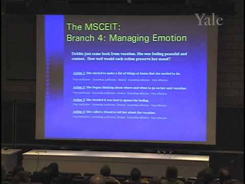 3/26/05 Peter Salovey - Emotional Intelligence: Is There Anything To It?