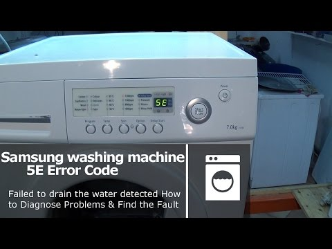 Samsung washing machine 5E or 2E error code Pump fault not emptying
