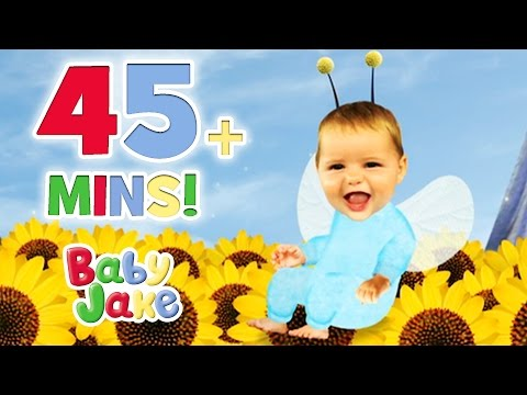 Baby Jake - Honey, Peas and Bouncing Apples | 45+ minutes | Fun with Food
