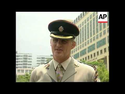 HONG KONG: BRITISH ARMY DISBANDS LOGISTIC SUPPORT REGIMENT