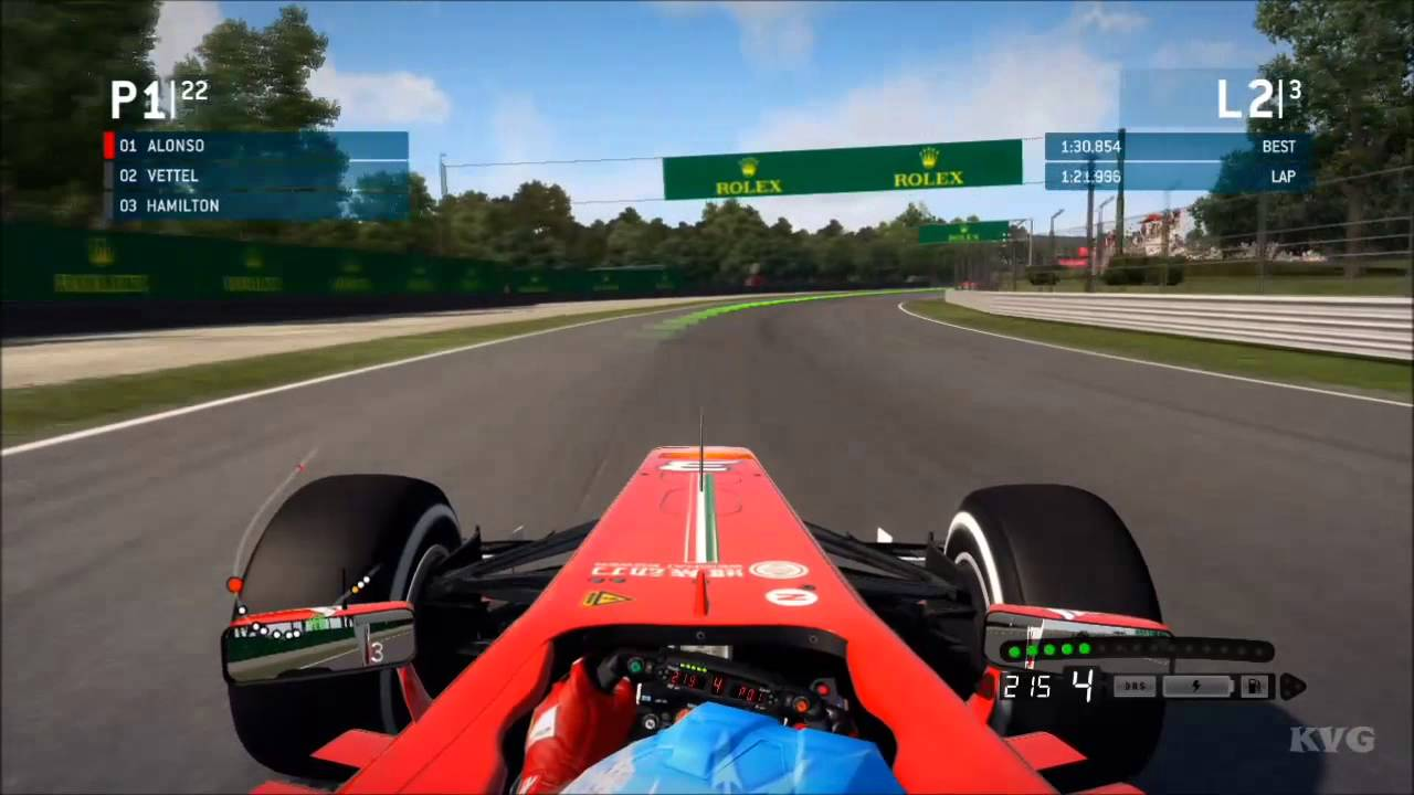 F1 2013 - Monza   Italian Grand Prix Gameplay [HD] - YouTube