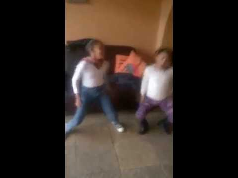 My Little nieces, showing off their dancing skills, S.African Style..….