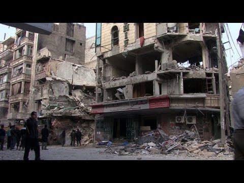 Syrian hospital in Aleppo destroyed by air strike