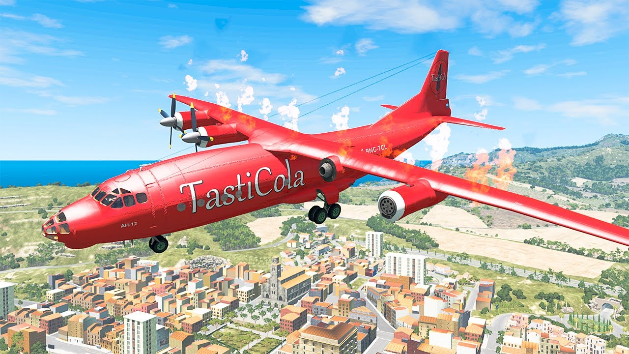 Airplane Crashes #21 - BeamNG DRIVE | SmashChan