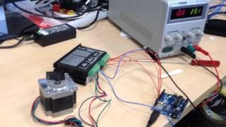 Nema 23 stepper motor with DM542 motor driver and Arduino Uno