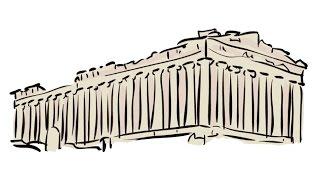 How to Draw an Acropolis / Как нарисовать Акрополь