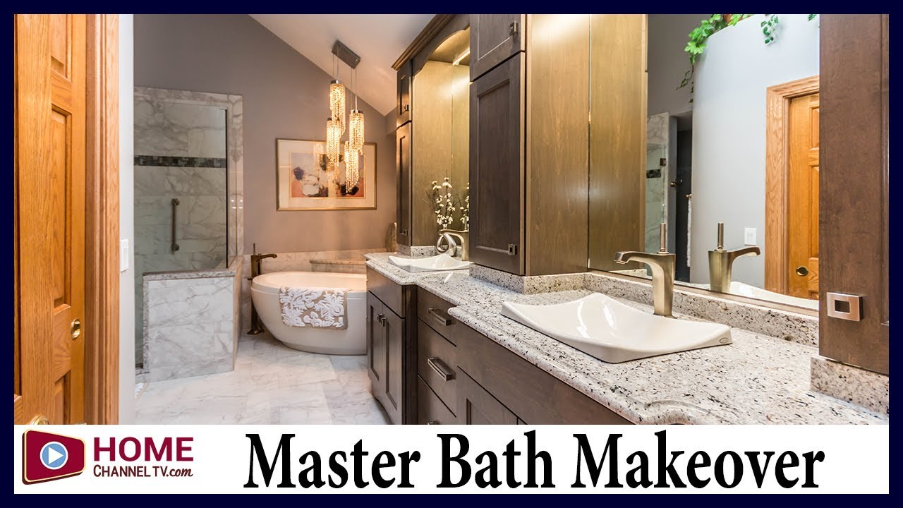 Master Bath Remodel - All New Shower, Vanities, Tub and More - YouTube