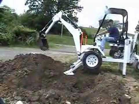 Digging The Pond With The Towable Backhoe Doovi