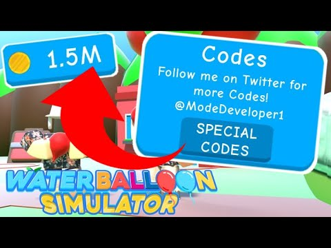 All Working Codes Water Balloon Simulator Roblox Youtube