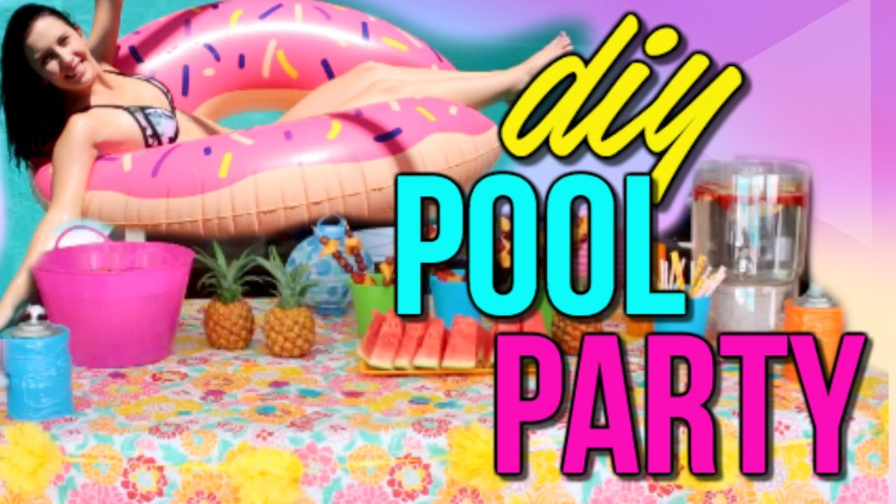 adult pool party themes