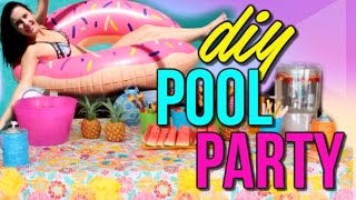 DIY SUMMER POOL PARTY! Decor, Food + Things To Do   Courtney Lundquist
