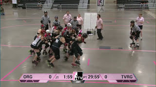 WFTDA 2013 D2 Playoffs: Des Moines: Game 2: Omaha Rollergirls  v Treasure Valley Rollergirls