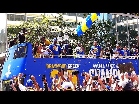 2017 NBA Champions Golden State Warriors Victory Parade 6-15-17