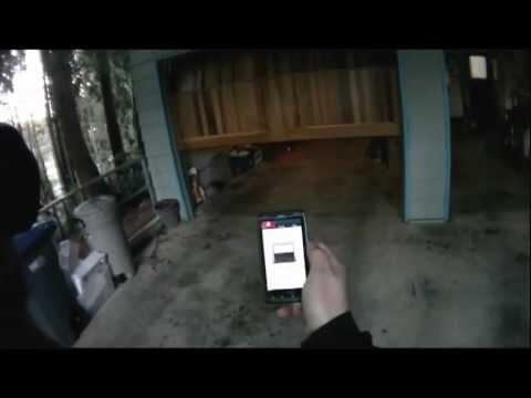 open garage door with phoneI open my garage door with my cell phone  YouTube
