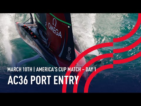 The 36thAmerica's Cup | Port Entry Stern Camera | 🔴 LIVE Day 1