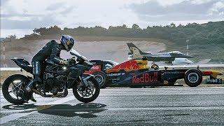 Kawasaki H2R Vs F16 Vs Tesla P1000 DL Vs Formula F1 Vs Aston Martin Vantage Vs Lotus Evora 430 GT