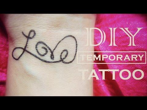 DIY Temporary Tattoo - Love | How to Make a Fake Tattoo