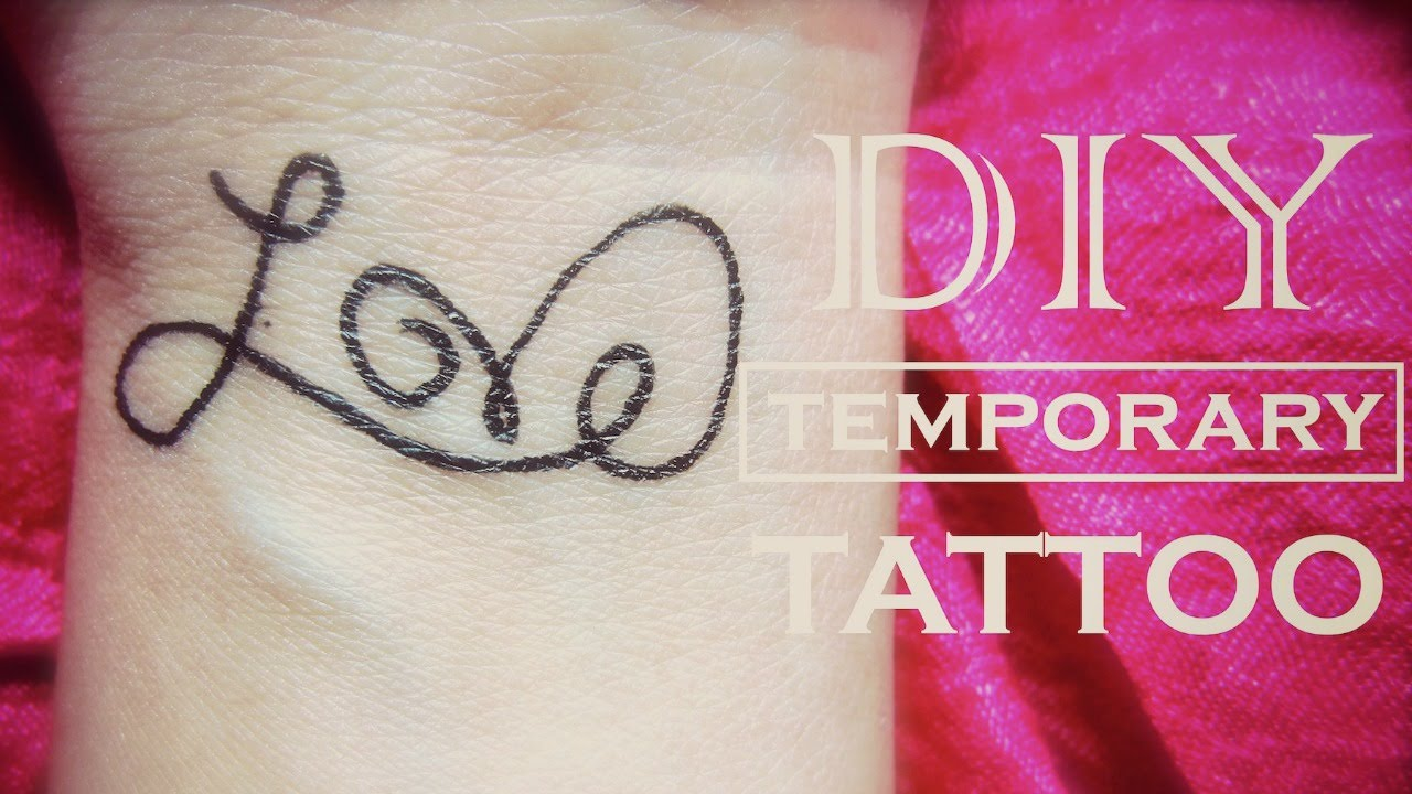 Diy temporary tattoo love how to make a fake tattoo youtube solutioingenieria Image collections