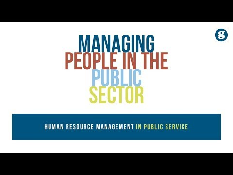 Managing People in the Public Sector