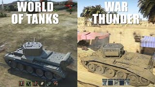 WoT vs War Thunder - Gameplay Comparison