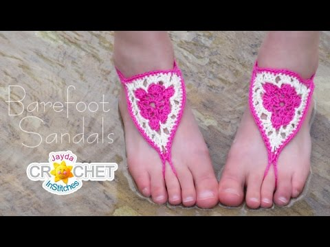 Crochet Barefoot Sandals Pattern - Awesome Festival Fashion DIY