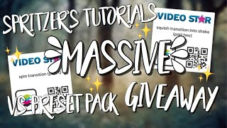 MASSIVE Video Star Transition Preset Pack Giveaway! (Smooth Transitions on Video Star)