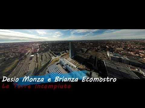 Download Desio Monza e Brianza La Torre Incompiuta Ecomostro in Volo con il Drone Video 4K Mavic Pro