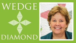 Wedge Diamond Quilt: Easy Quilting Tutorial with Jenny Doan of Missouri Star Quilt Co