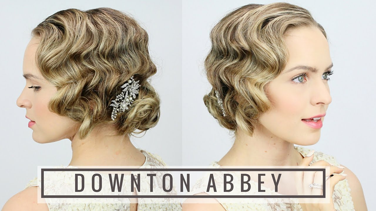 Flapper Hair Style: 1920's Finger Wave Updo!