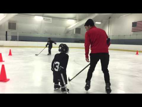 Connor's 1st Hockey Practice in Lil' Kings Program (03/14/2015)