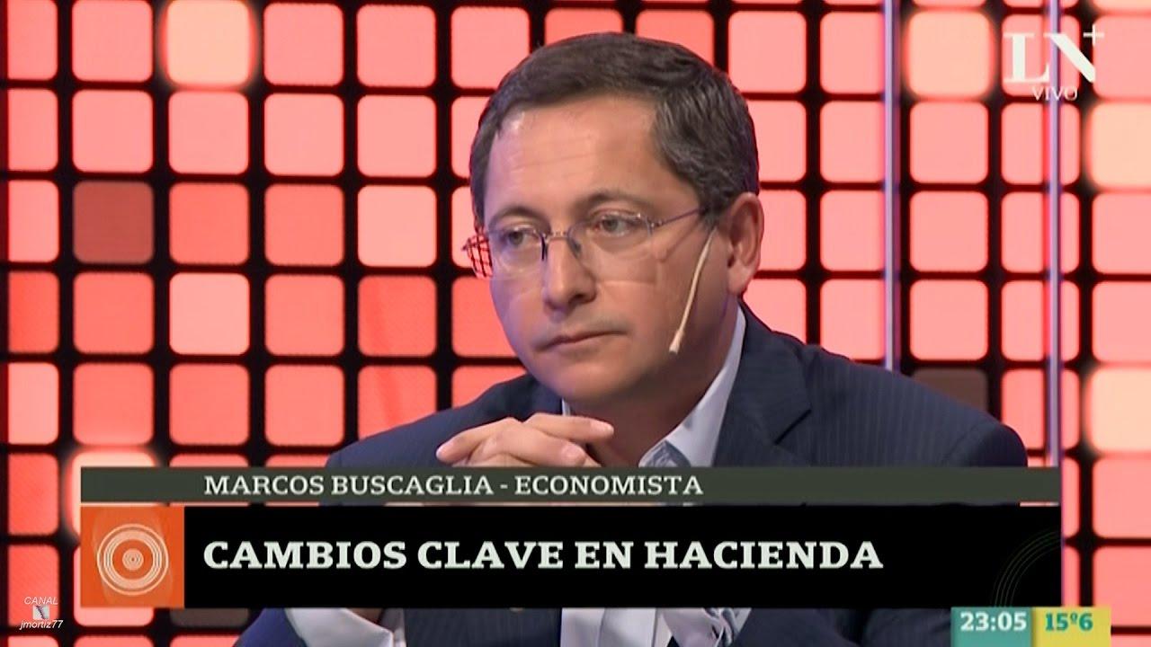 Marcos Buscaglia sobre la economía, en \