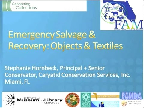 Florida Connecting to Collections 2012 Emergency Plans: Salvage & Recovery Objects/Textiles
