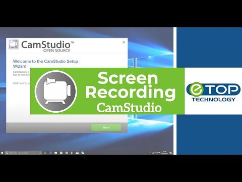 💻Screen Recording/capturing In Windows 10 | CamStudio 🎥