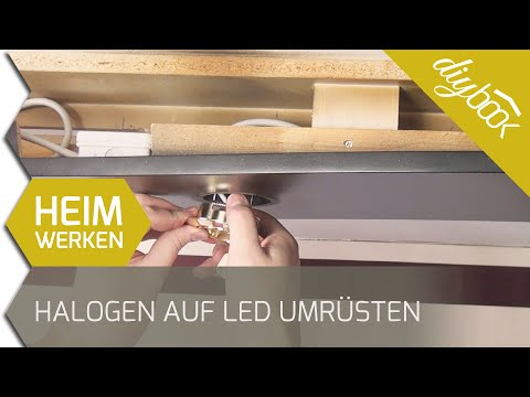 halogen auf led umr sten 12v auf hochvolt. Black Bedroom Furniture Sets. Home Design Ideas