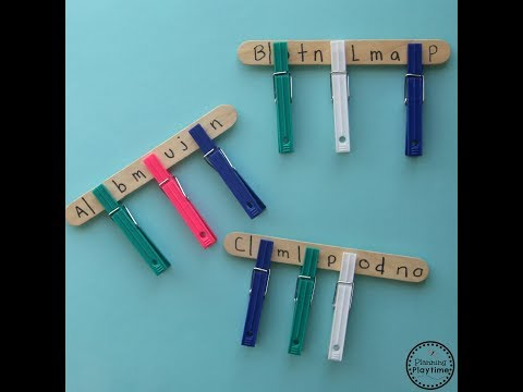 Preschool Letter Matching Sticks Activity