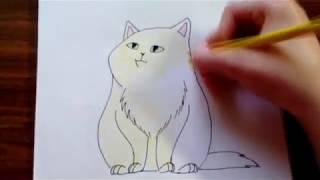 Уроки рисования   Как нарисовать кота   Рисуем легко и просто   Рисование для начинающих   #7