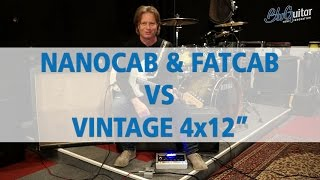 BluGuitar NANOCAB & FATCAB Guitar Cabinet - Comparison Vintage 4x12 - English