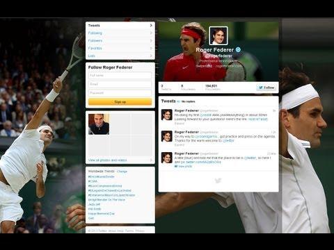 Federer Joins Twitter, Djokovic Draws Nadal, Blacklight Tennis