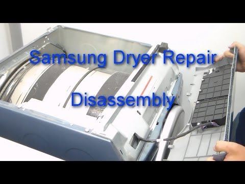 samsung-dryer-repair---how-to-disassemble