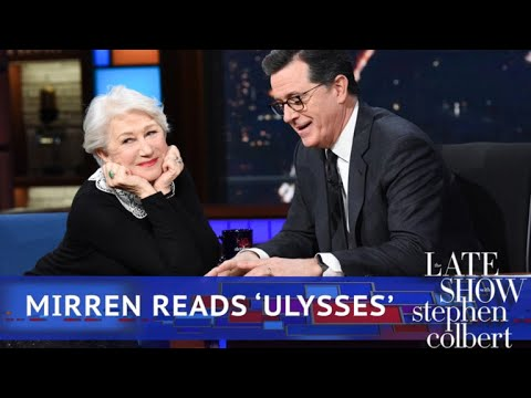 Helen Mirren Reads Poetry To An Emotional Stephen Colbert