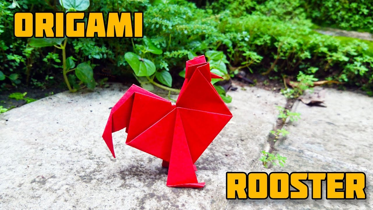 ROOSTER | COCK | Origami tutorial by Magic Folds 🐓🐓🐓