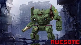 Mechwarrior Online - Red kills fasta (Awesome AWS-9M, 2xERPPC+LPL+3MPL)