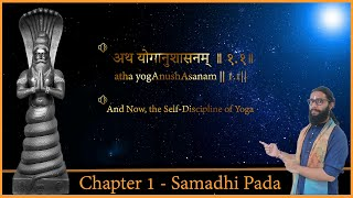 Chapter 1- States of Yoga- Complete Patanjali Yoga Sutras in Sanskrit with Meaning(Samadhi Pada)