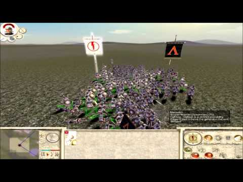 Rome Total War Armored hoplites vs Royal Pikemen (no comments)