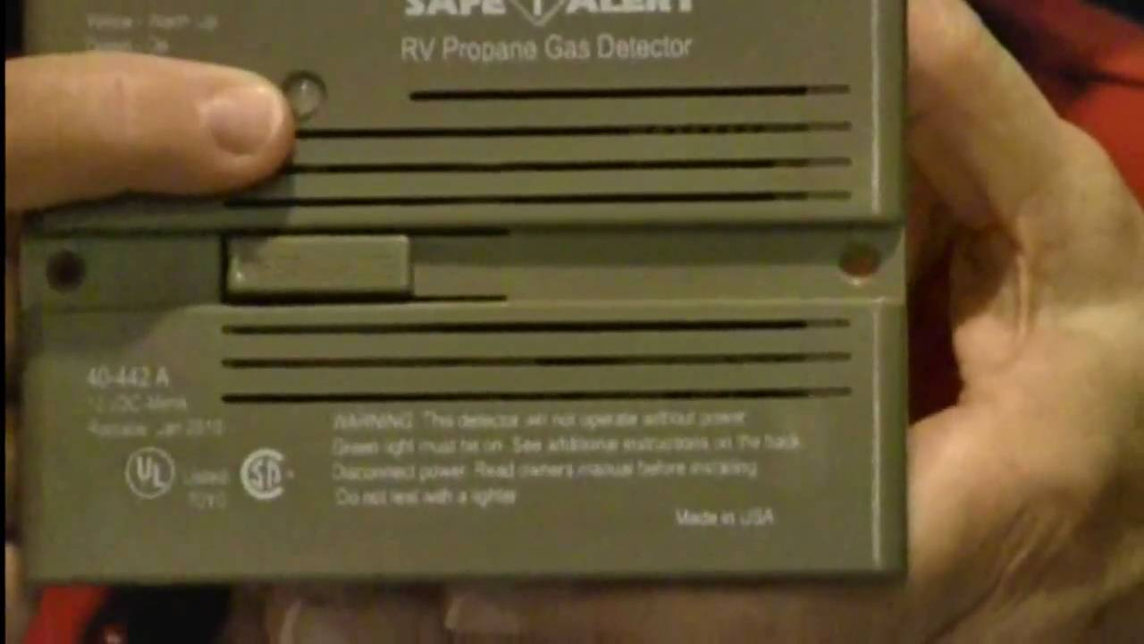 Rv Propane Gas Detector Product Review Youtube
