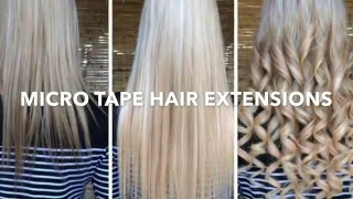 Micro Tape Hair Extensions Thumbnail