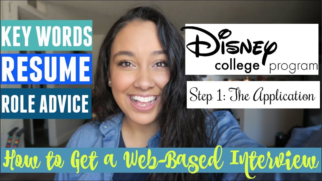 Disney College Program Application Step 1 How To Be Guaranteed A